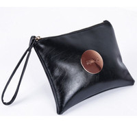 bag cowhides - 2016 MIMCO Medium Pouch Small Black White Large MIMCO Patent Leather Wallet Handbag For Women Clutch Bags MIMCO Purse