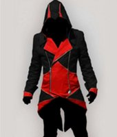 assassins creed costume pattern - 2017 Hot Sale Custom handmade Fashion Assassins Creed III Connor Kenway Hoodies Costumes Jackets Coat colors choose direct from factory