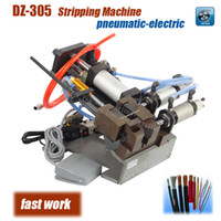 auto wire strippers - DZ Pneumatic electric semi auto cable stripping machine wire plasitc peel off machine electric wire stripper V max0 mm