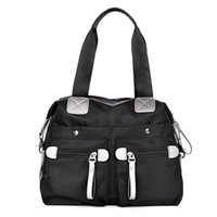 Wholesale Women Handbag Waterproof Nylon Shoulder Women Messenger Bags Casual Cross Body Beach Bag Black Ladies Big Tote CM