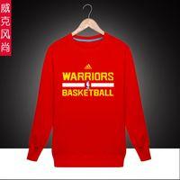 Wholesale Sports Golden State Basketball Warriors Curry Spring Autumn Cheap Men Crewneck Pullover Sweatshirt Best Online Sale