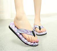 Wholesale Slippers new camouflage women beach flip flop casual summer beachcflat massage flip flops wholesales shoes slippers sandals