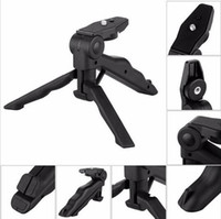 Wholesale Universal Mini Tripod quot Rotation Desktop Handle Stabilizer For Mobile Phone Camera With Cell Phone Holder and Tripod Adapter