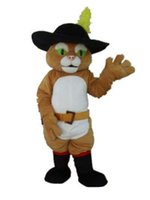Cheap puss in boots mascot costume for adult to wear