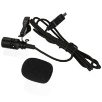 Wholesale Brand New Pro Mini USB External Microphone With Collar Clip Black For GoPro Hero
