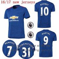 Wholesale 2016 united Soccer Jersey Anthony Martial Football Shirt Schweinsteiger Memphis Depay Mata Wayne Rooney camisetas de futbol Home Shirts