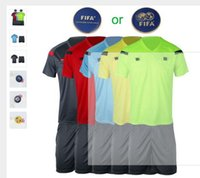 Wholesale Hot sale Fair Play Professional Soccer referee jerseys Sports clothing suit sets Football referee uniform judge jersey shirts
