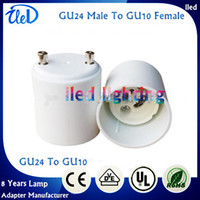 Wholesale GU24 to GU10 lamp adapter holder socket converter GU24 Male To GU10 Female Lamp Converter By Epacket