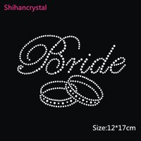 Wholesale Factory Price Bride Double Ring Hotfix Rhinestone Motif Rhinestone Transfer For Garment Accessory Woman Wedding Dresses
