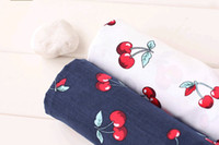 Wholesale 50 CM Cherry Cotton Cloth For Sewing Quilting Doll Body Cloth Kids Shirt Dress Diy Handmade Fabric Cloth
