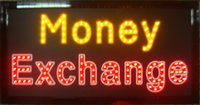 Wholesale 20pcs Led money exchange sign Hot Sale manufacture X19 Inch semi outdoor Ultra Bright running Led sign