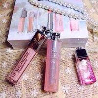 brand lip stick - New product Famouse brand Waterproof Long Lasting Lip Stick Lip gloss Perfume Sweet girl Lip Makeup Set set