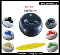 Wholesale Waiter Wireless Call Button P O3 Waterproof Waiter Buzzer For wireless queue calling system Long Transmitting Distance