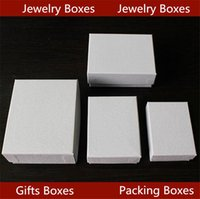 Wholesale Hot sell New litchi grain long white necklace boxes jewelry box Key chain gift boxes