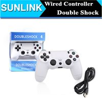 usb game controller - PS4 Controllers USB Wired Game Controller Joystick Gaming Controllers Wired Controller Black Colors with Analog Sticks USB Cable