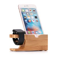 Wholesale For Apple Watch Stand Charging fashion Bamboo Design Bracket Docking Station Holder For iPhone For iPhone Watch