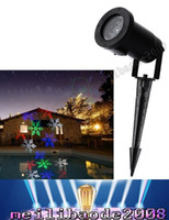 Wholesale Outdoor Christmas Laser Lights Snowflake Projector Holiday Light Waterproof IP64 RGB Color Snow LED laser Projector Fast LLFA