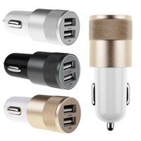 Wholesale Aluminum Dual USB Full V A Output Quick Speed Car Charger Charging Adapter For Smart Mobile Phone