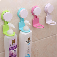 Wholesale Home Strong Suction Cup Sucker Shower Gel Bathroom Wall Rack Storage Hooks Stand