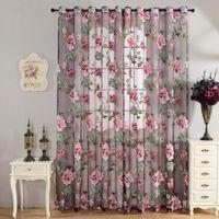 bathroom window screens - 270cm x cm Sheer Curtains Door Room Flower Tull Window Screening Curtain Drape for Bathroom Living Room w