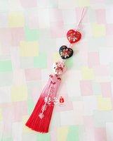 Wholesale Handmade Embroidered heart Silk Norigae Ornaments Korean Traditonal Hanbok Costumes Accessory Car Inner Hanging Pendant