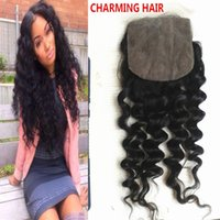 Cheap deep wave silk closure Best silk top lace closures