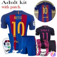 barcelona football socks - 16 top quality Barcelona soccer jersey Home Away MESSI ARDA A INIESTA Soares I RAKITIC football shirt suits socks
