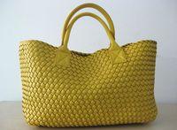 Wholesale Brand New Woven Leather Like Cross Stitch Hobo Large Handbag Women s Fashion Woven bag Purse Casual Tote