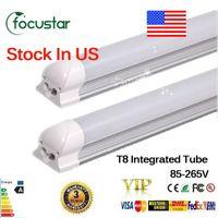 22w bright white leds - US STOCK Integrated m ft W Led T8 Tube Lights SMD2835 Leds High Bright light lm V fluorescent lighting X25
