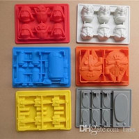 Wholesale Best sale pc Star Wars Darth Vader Storm Trooper R2D2 Falcon X Wing Hans Solo Silicone Mold Ice Cube Tray Chocolate Fondant