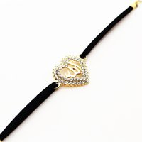 arab traditional - 2016 Middle Eastern countries selling plated K gold bracelet Arab Muslim Islamic Allah Allah black rope bracelet