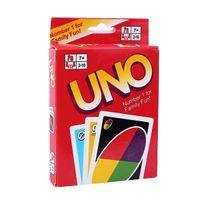 Wholesale UNO poker card standard edition family fun entermainment board game Kids funny Puzzle game UNO card board games