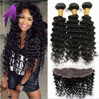 Wholesale 13 Lace Frontal Closure With Bundles Peruvian Deep Wave With Closure Peruvian Deep Wave Lace Frontal And Bundles