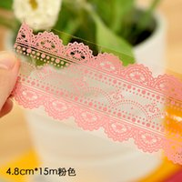 Wholesale Ann South Korea stationery cute little fresh and transparent lace tape DIY decorative tape meters