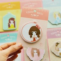 Wholesale Cute Sticky Sweet Princess Cartoon Character Small Stickers N Times Posted Message Book Memo Pad School Supplies Stationery