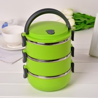 Cheap Fashion Three Layers Stainless Steel Bento Lunch Box For Kids China Dinner Set Portable Multifunctional
