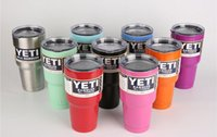 Wholesale YETI Coolers Rambler Tumbler Cup Colors oz oz Large Capacity Stainless Steel Powder Coated Tumbler Mugs DHL Shipping