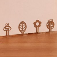 Wholesale 100pcs Mini Metal Bookmark Clips Cute Cartoon Animal Flower Cartoon Plated Sliver Bookmarks Book Line Marker Papelaria
