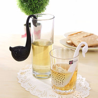 Wholesale Swan Silicon Tea Infuser Leaf Silicone Tea Infuser with Food Grade Make Tea Bag Filter Creative Stainless Steel Tea Strainers Food Grade