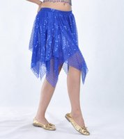 Wholesale New Sexy Belly Dance Costume Skirt Sequin Mesh Short Skirt colors