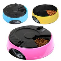 Wholesale Freeshipping Meal LCD Digital Automatic Pet Dog Cat Feeder Recorder Bowl Meal Dispenser