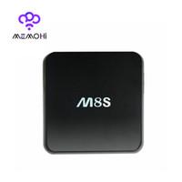 Wholesale 10PCS MEMOBOX M8S Amlogic S812 Android TV Box Quad Core G G KODI XBMC Dual band G G WiFi Set top box Full HD Movies Smart TV Receiver