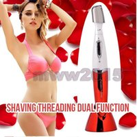 Wholesale Hot Stylish Electric Face Eyebrow Hair Body Blade Razor Shaver Remover Trimmer Waterproof Wet Dry CZ056