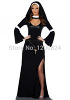 Wholesale HOT SELLING Sexy halloween nun costumes for women fantasy and sexy cosplay costume with long dress