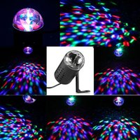 Wholesale Professional EU Plug W LED RGB Stage Light Auto Rotating Crystal Laser Disco Lighting Lamp DJ LED Bulb Party Dancing Lamp