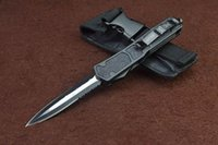 switchblade - Micro Technology Heiyi straight out switchblade Troodon Recurve double action outdoor Knife C steel Tactical knives FUll size