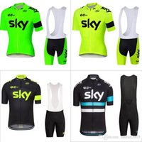 Wholesale 2016 fluor SKY Sportswear Mountain Bike Ropa Ciclismo MTB top Bicycle Wear Cycling Jersey clothing Shirt Bib Shorts sets