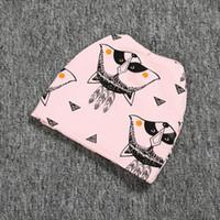 animal shower caps - Pink Fox baby hats caps Animal print children s beanie baby shower gift newsboy hat winter warm baby hat