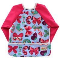 Wholesale Baby Bibs Waterproof Kids Bibs Burp Cloths Ployester Patchwork Print Baby Bib Long Sleeve Baby Slabbers Newborn Feeding