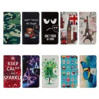 bell phone cards - Camouflage Flower Wallet Leather Case For Sony Xpria XZ Eiffel Tower Butterfly Owl Bell Bus Keep Calm UK Flag Don t Touch My Phone Pouch